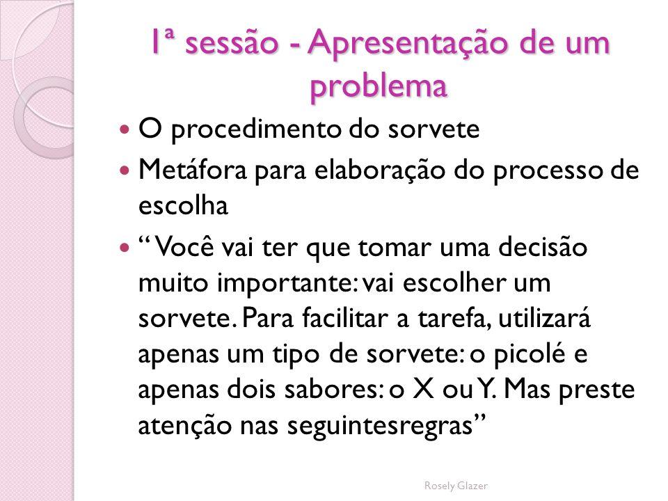 1ª sessão - Apresentação de um problema