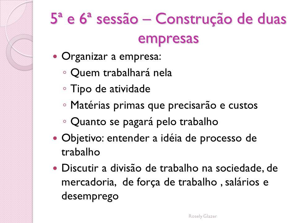 5ª e 6ª sessão – Construção de duas empresas