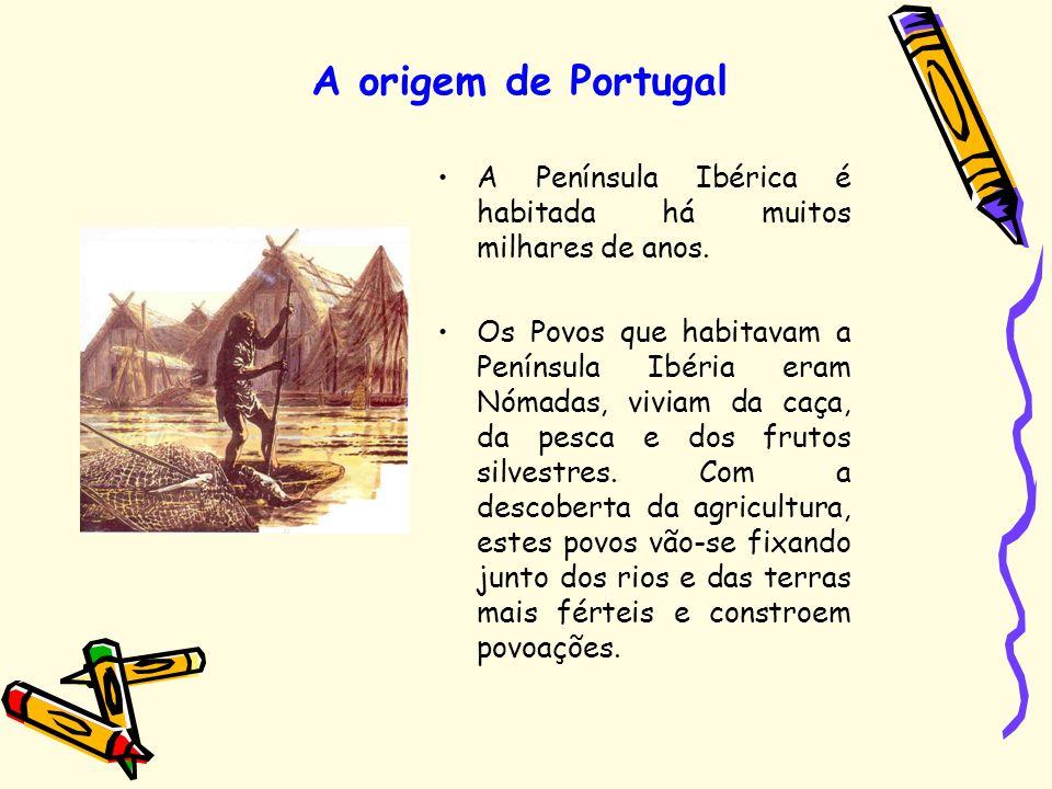 A origem de Portugal A Península Ibérica é habitada há muitos milhares de anos.