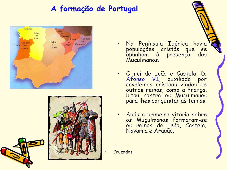 A formação de Portugal Na Península Ibérica havia populações cristãs que se opunham à presença dos Muçulmanos.