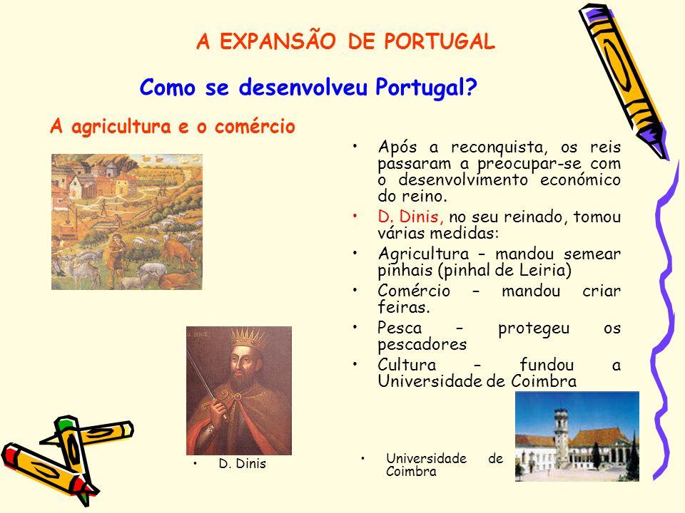 Como se desenvolveu Portugal A agricultura e o comércio