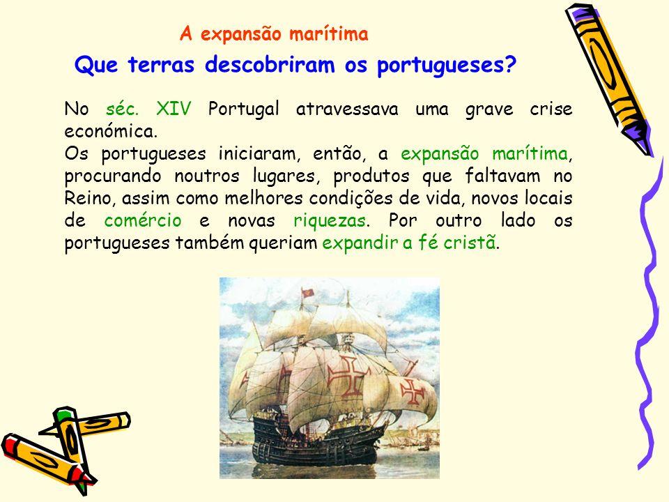 Que terras descobriram os portugueses