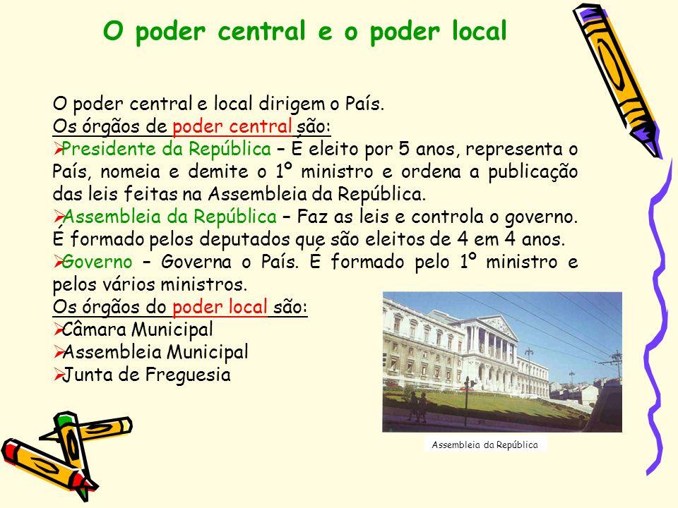 O poder central e o poder local