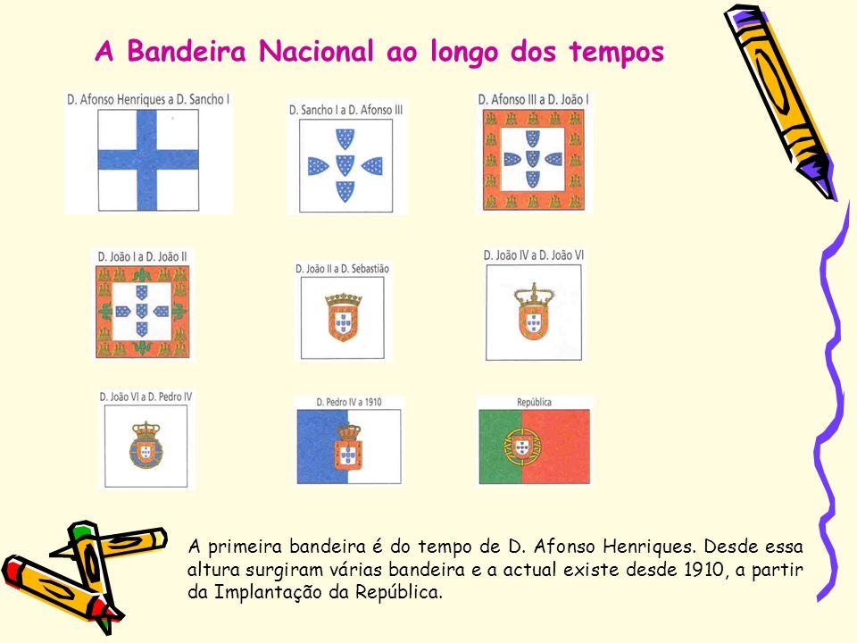 A Bandeira Nacional ao longo dos tempos
