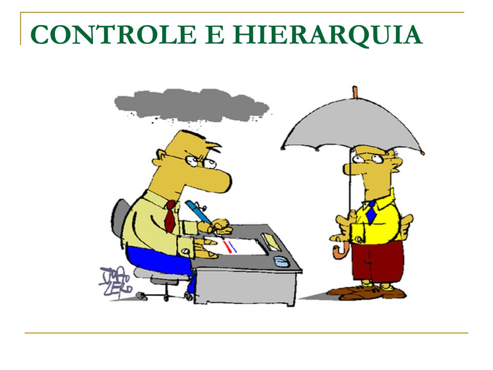 CONTROLE E HIERARQUIA