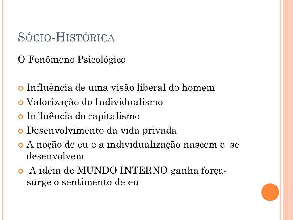 Sócio-Histórica O Fenômeno Psicológico