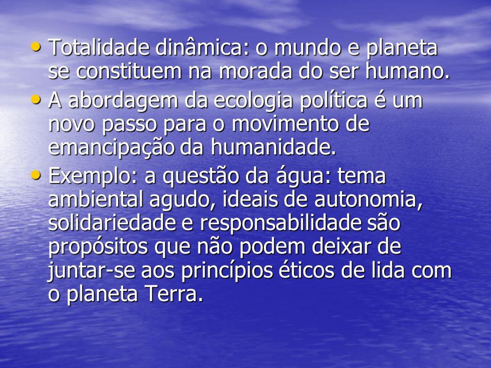 Totalidade dinâmica: o mundo e planeta se constituem na morada do ser humano.