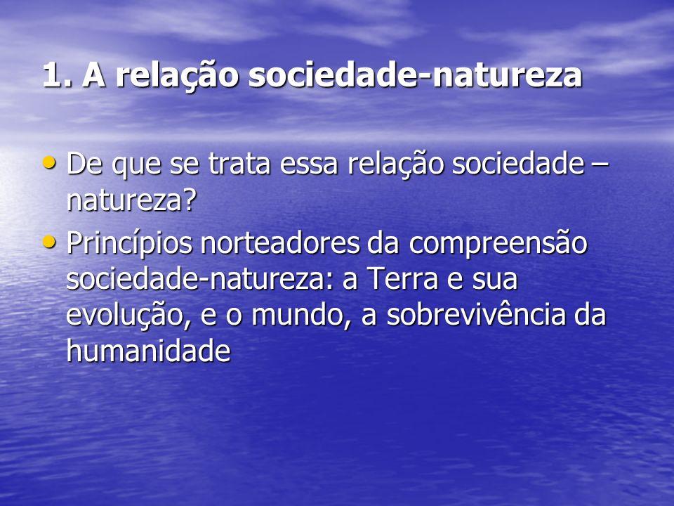 1. A relação sociedade-natureza