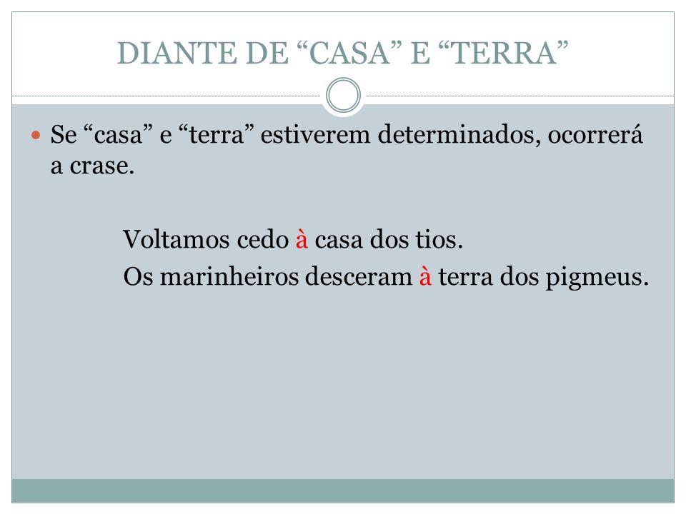 DIANTE DE CASA E TERRA
