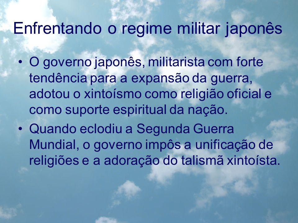 Enfrentando o regime militar japonês