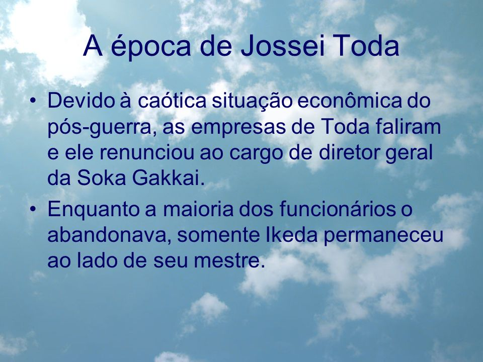 A época de Jossei Toda