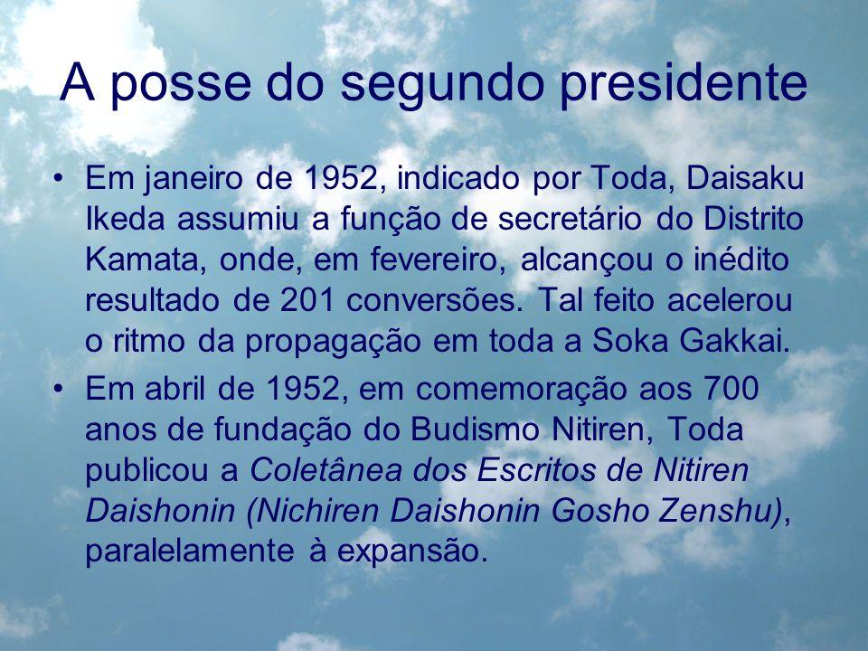 A posse do segundo presidente