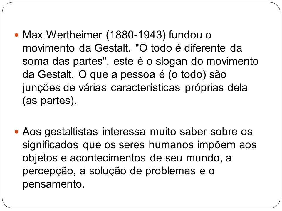 Max Wertheimer (1880-1943) fundou o movimento da Gestalt