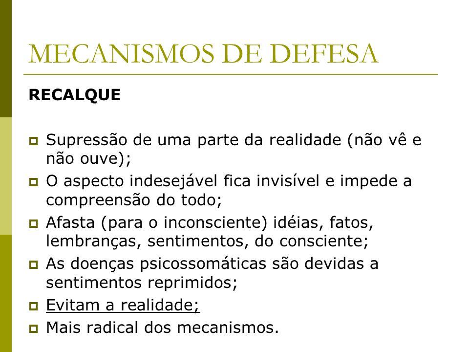 MECANISMOS DE DEFESA RECALQUE