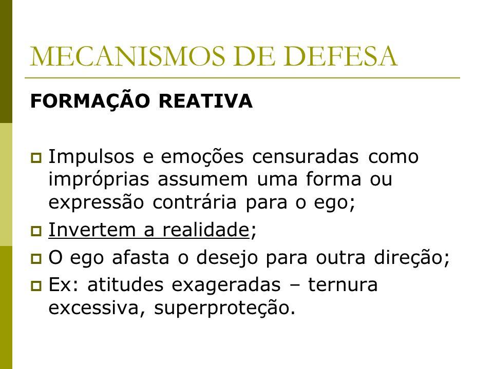 MECANISMOS DE DEFESA FORMAÇÃO REATIVA