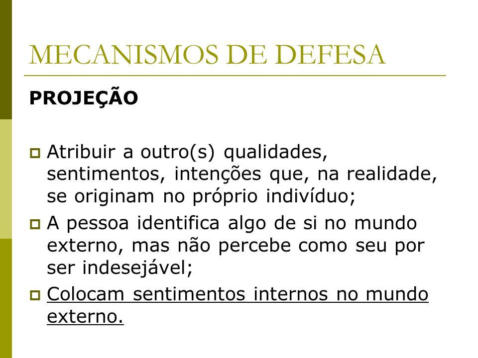 MECANISMOS DE DEFESA PROJEÇÃO