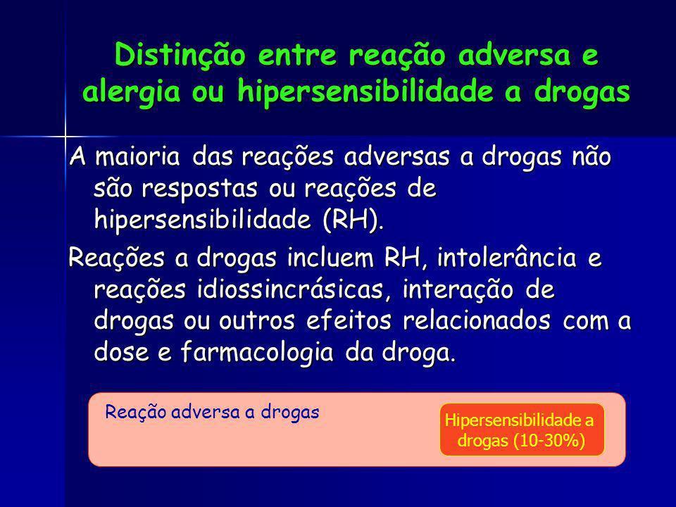 Distinção entre reação adversa e alergia ou hipersensibilidade a drogas