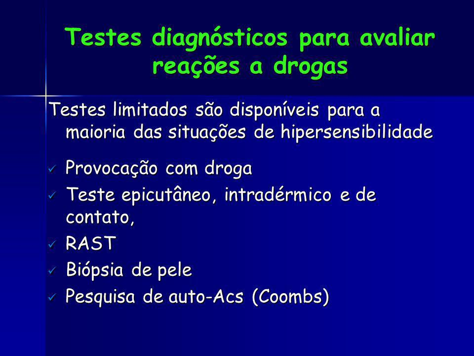 Testes diagnósticos para avaliar reações a drogas
