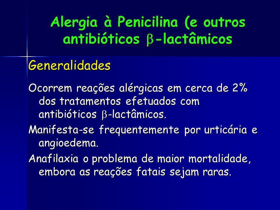 Alergia à Penicilina (e outros antibióticos -lactâmicos