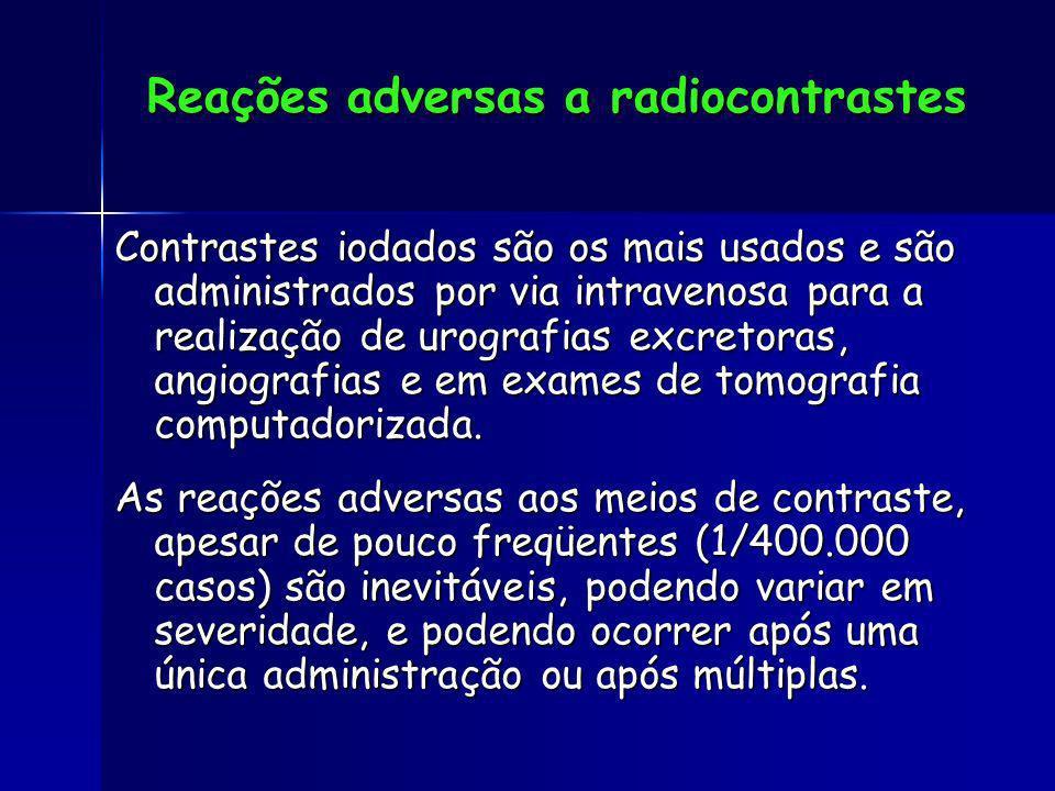 Reações adversas a radiocontrastes
