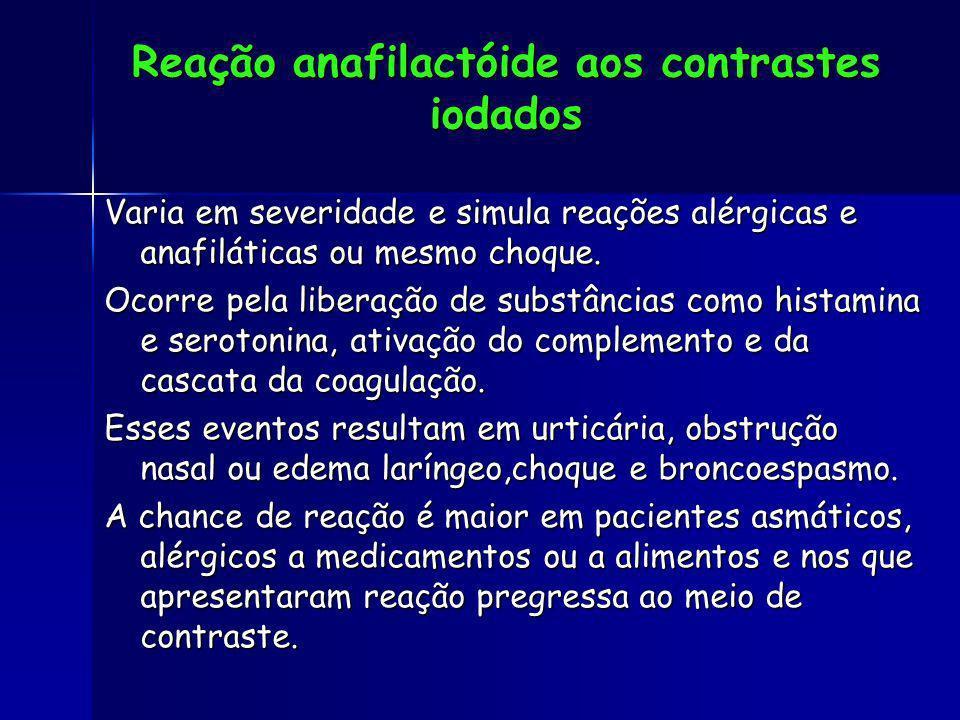 Reação anafilactóide aos contrastes iodados