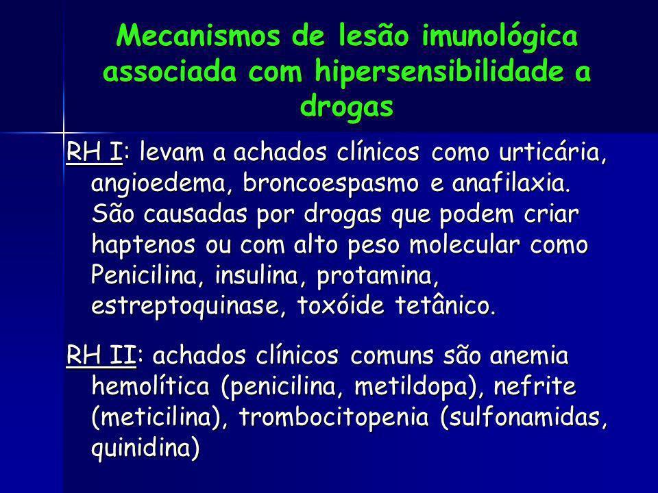 Mecanismos de lesão imunológica associada com hipersensibilidade a drogas