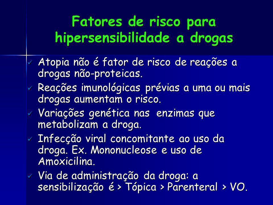 Fatores de risco para hipersensibilidade a drogas