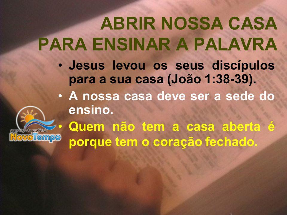 ABRIR NOSSA CASA PARA ENSINAR A PALAVRA