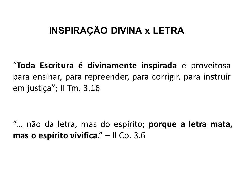 INSPIRAÇÃO DIVINA x LETRA
