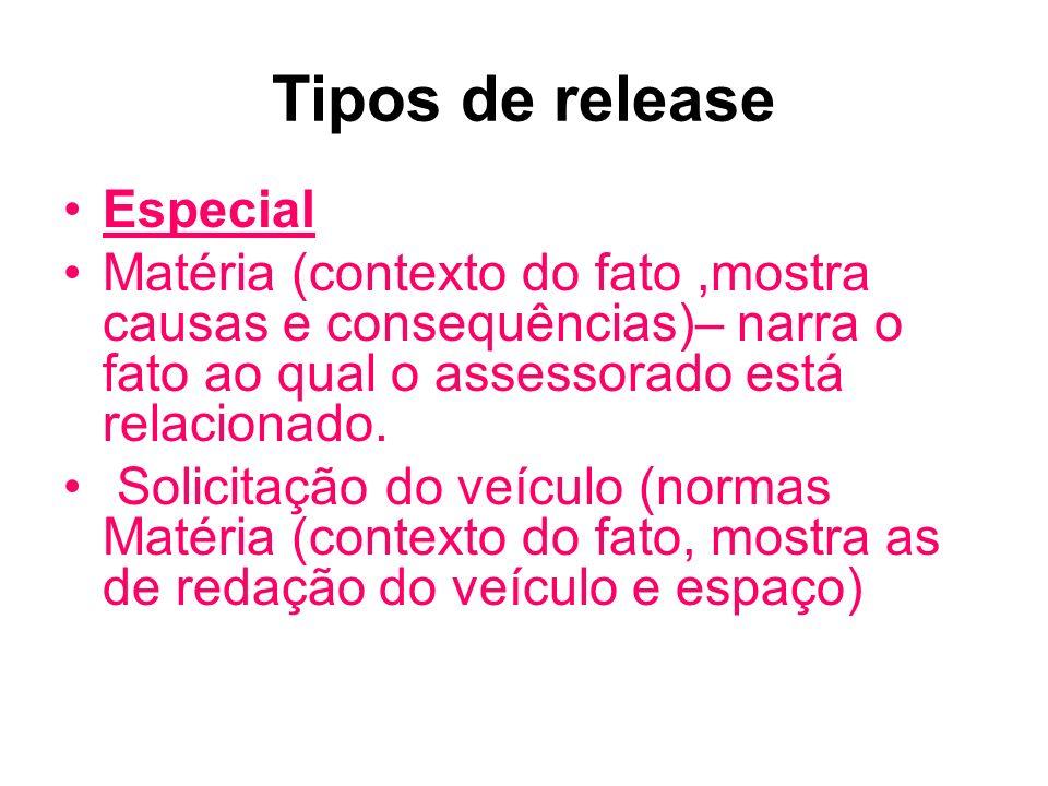 Tipos de release Especial