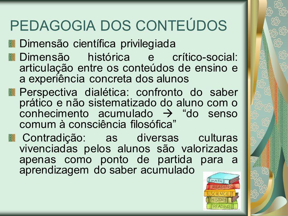 PEDAGOGIA DOS CONTEÚDOS
