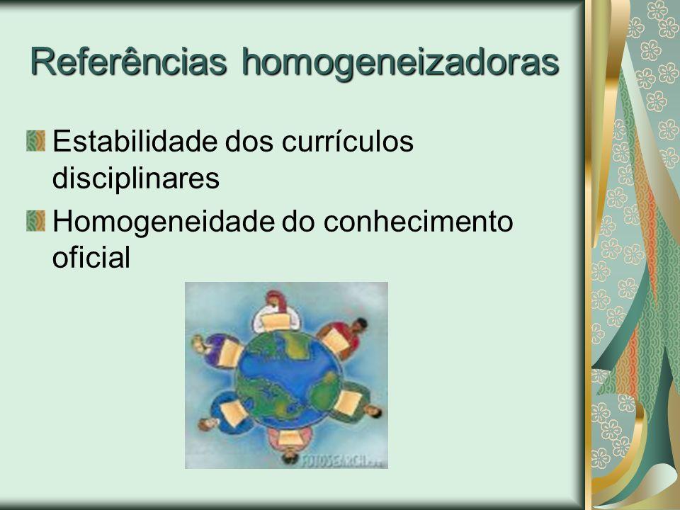 Referências homogeneizadoras