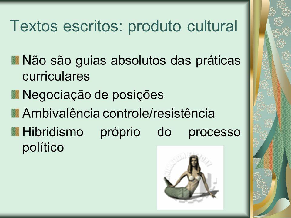 Textos escritos: produto cultural
