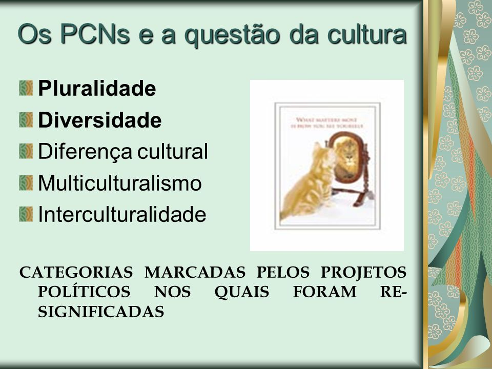 Os PCNs e a questão da cultura