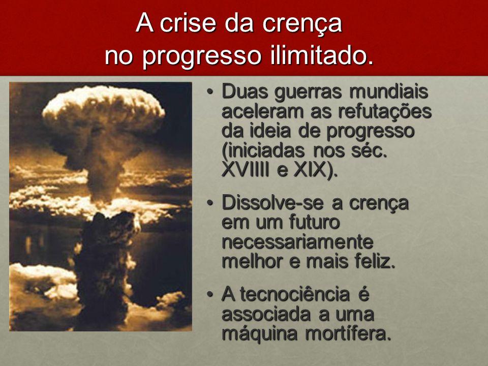 A crise da crença no progresso ilimitado.