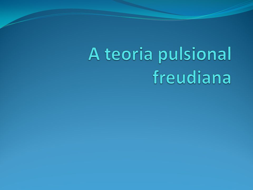 A teoria pulsional freudiana
