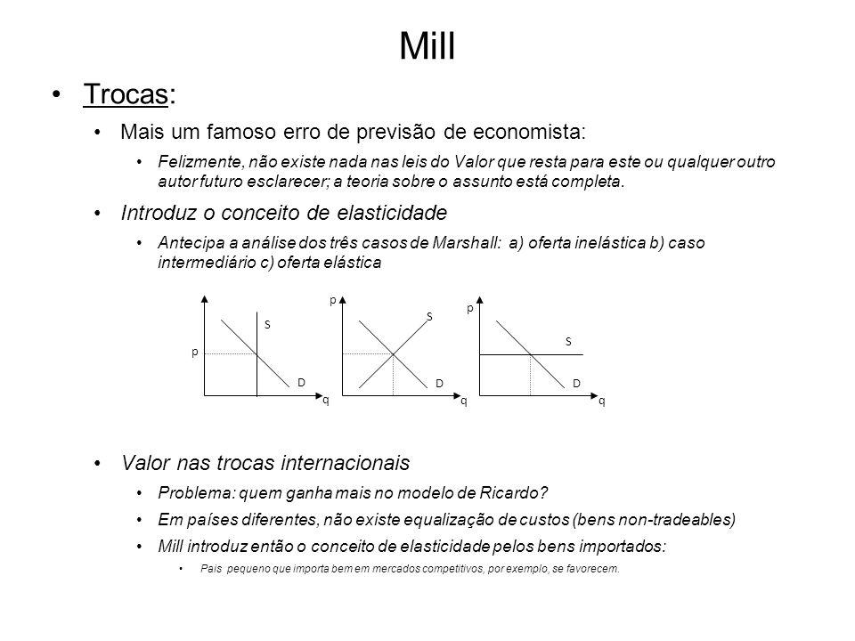 Mill Trocas: Mais um famoso erro de previsão de economista: