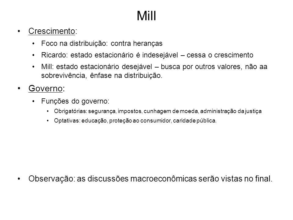 Mill Governo: Crescimento: