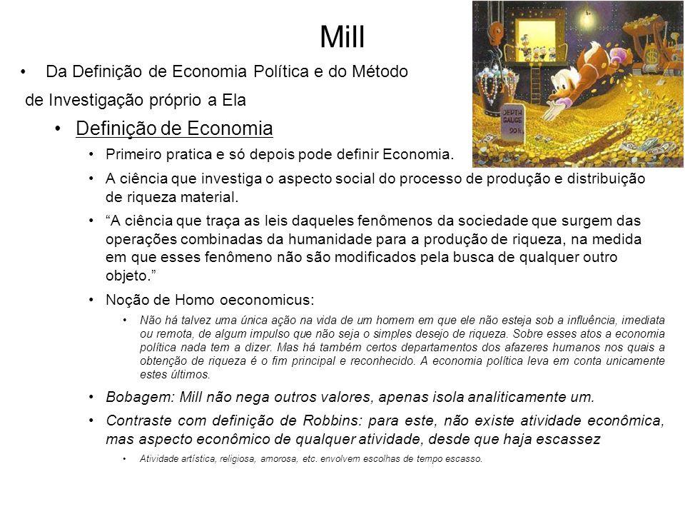 Mill Definição de Economia