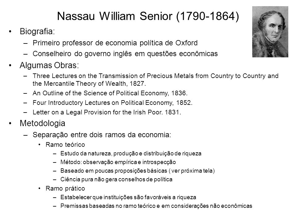 Nassau William Senior ( )