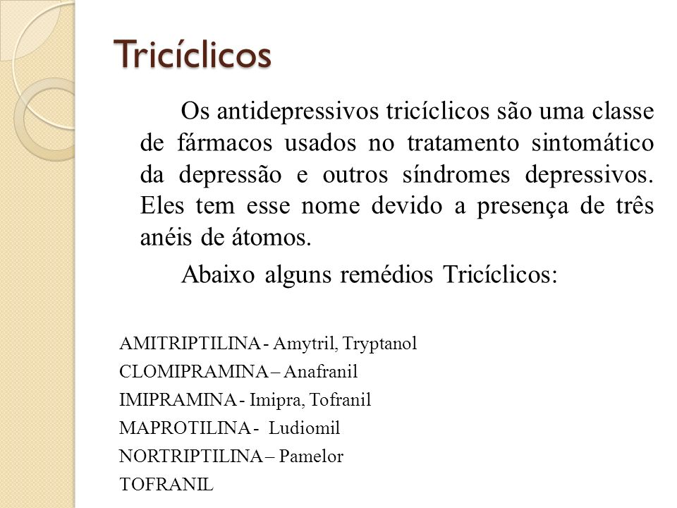 Tricíclicos
