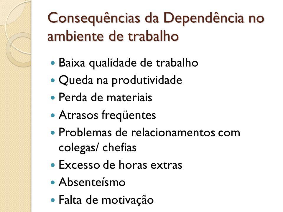 Consequências da Dependência no ambiente de trabalho