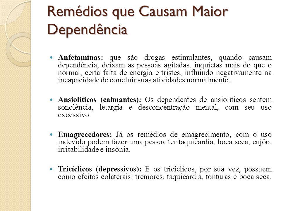 Remédios que Causam Maior Dependência
