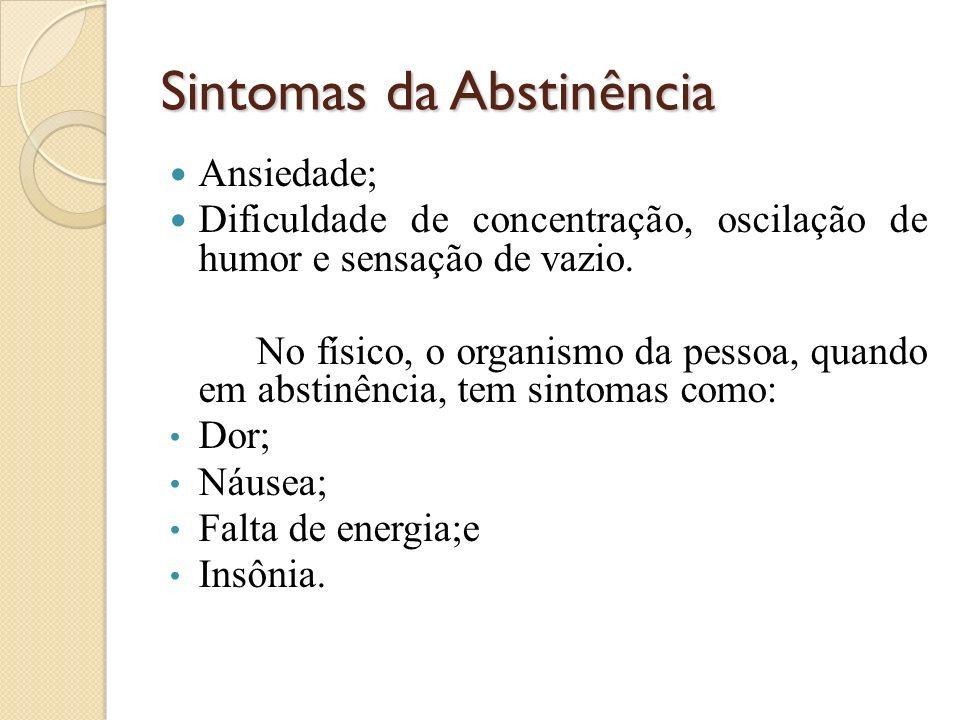 Sintomas da Abstinência