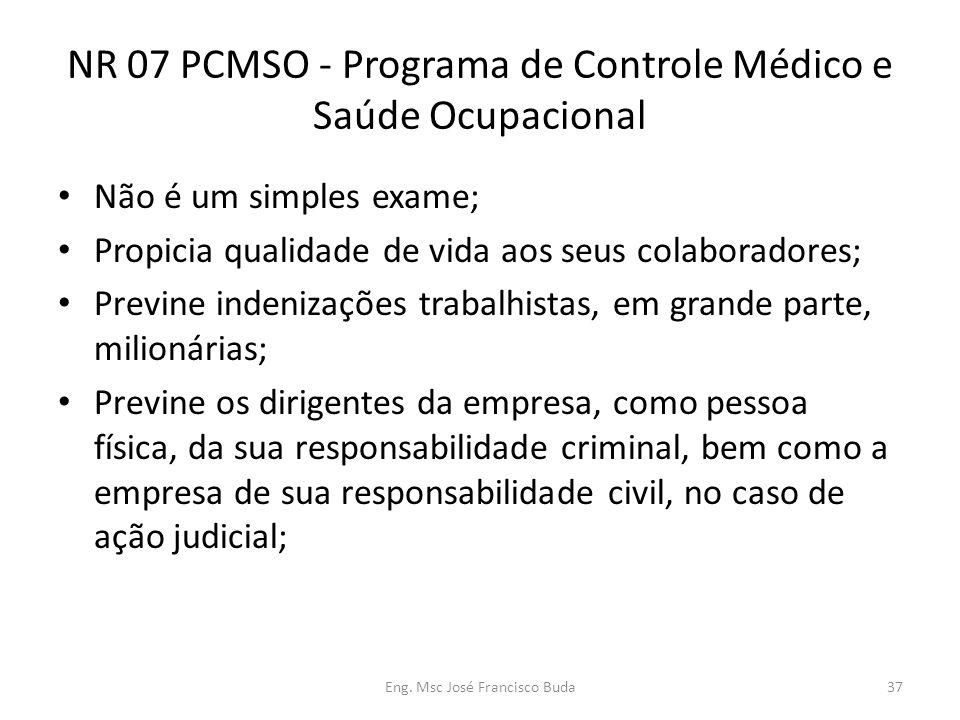 NR 07 PCMSO - Programa de Controle Médico e Saúde Ocupacional
