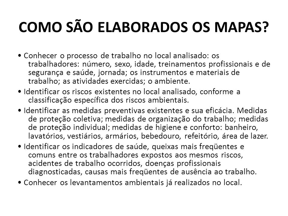 COMO SÃO ELABORADOS OS MAPAS