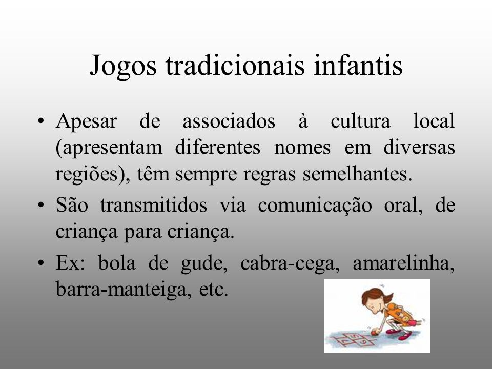 Jogos tradicionais infantis