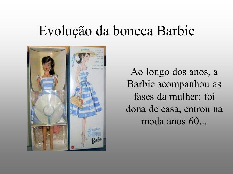 Evolução da boneca Barbie