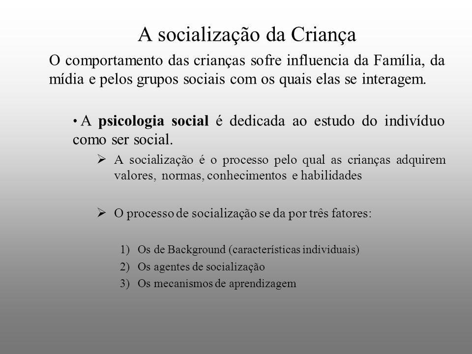 A socialização da Criança