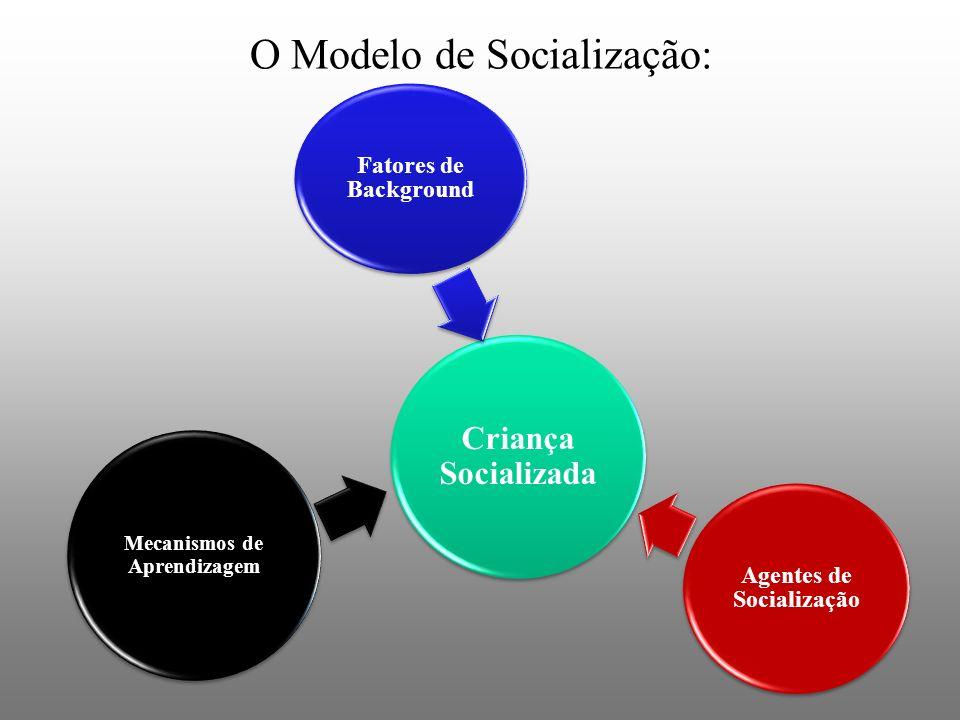 Agentes de Socialização Mecanismos de Aprendizagem